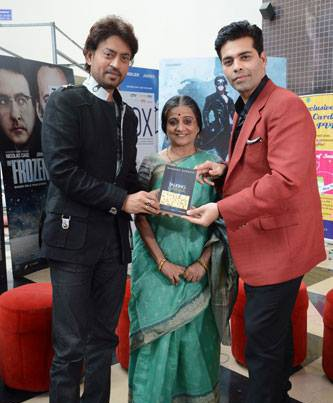 Bs with karan johar and Irrfan khan