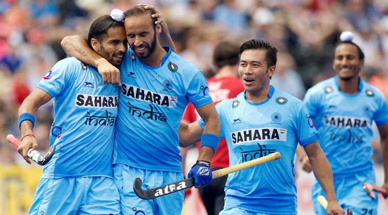 LONDON - Hockey World League Semi-Final.08 Canada - India (Pool B)Foto: Akashdeep Singh and Ramandeep Singh.COPYWRIGHT FRANK UIJLENBROEK WORLDSPORTPICS