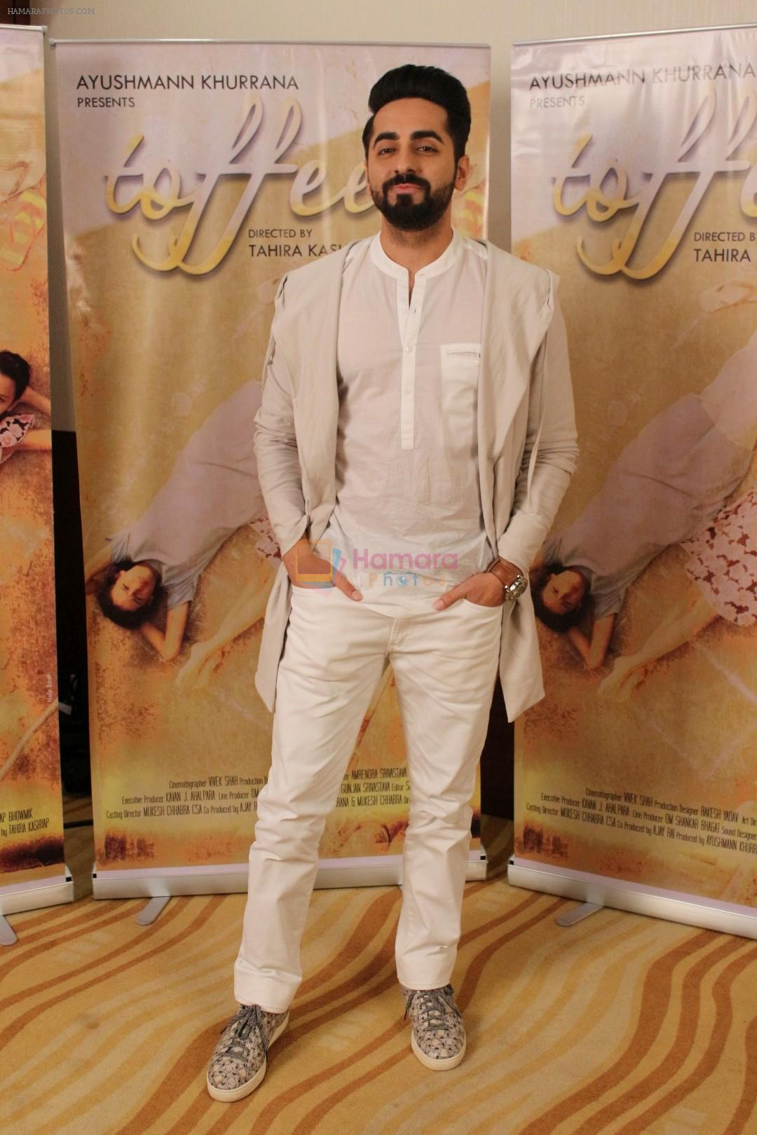Ayushmann Khurrana at the promotion of Film Toffee on 12th Oct 2017 shown to user